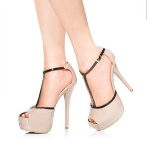 Just Fab Strappy Platform Heels